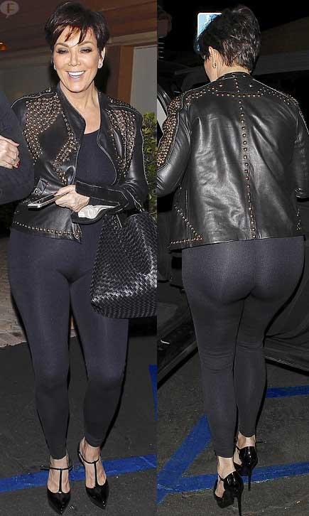 Kris Jenner muestra sus curvas en lycras...
