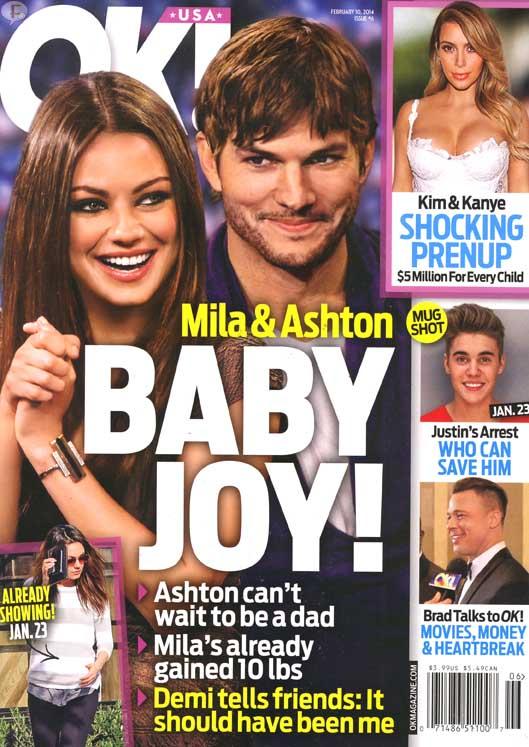 Mila Kunis y Ashton Kutcher serán padres! - OK!