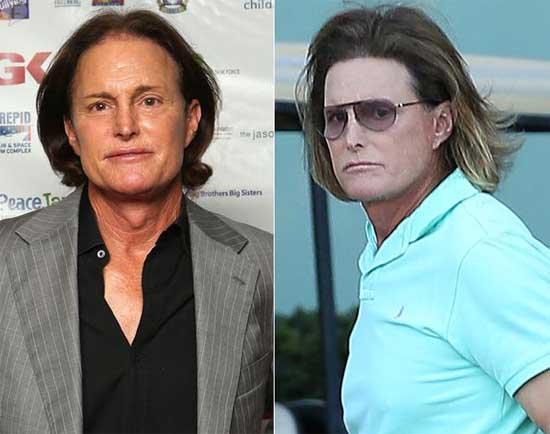 Bruce Jenner con nuevo hairdo - Dude looks like a lady!!
