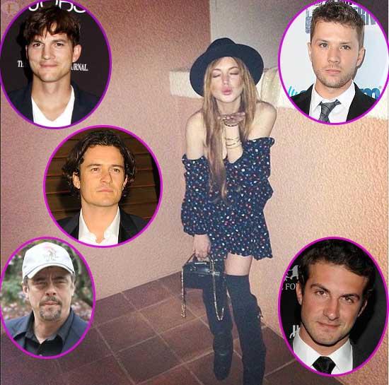 Sigue La Lista de los 36 'novios' de Lindsay: Ashton, Orlando, Ryan