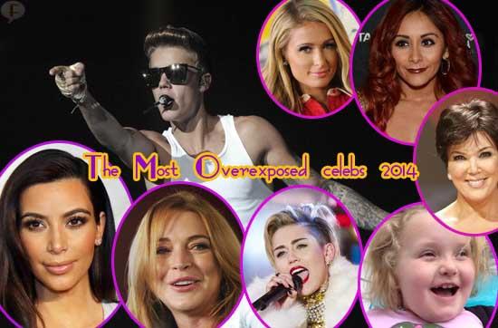 Celebs OVEREXPOSED del 2014: Justin, Kim, Miley, Lindsay