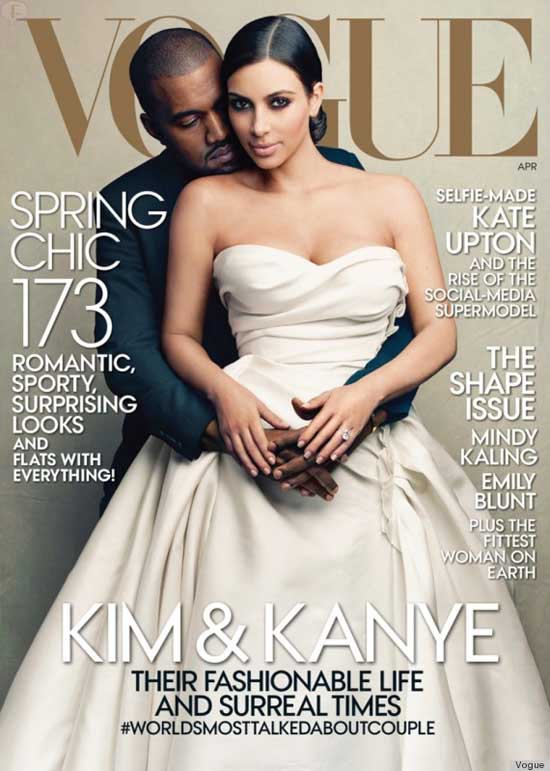 Kim Kardashian en la portada de Vogue - TACKY magazine!