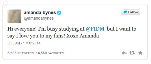Amanda Bynes vuelve a Twitter!