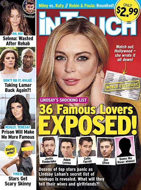 """La lista de los mejores 36 """"novios"""" de Lindsay Lohan!!"""