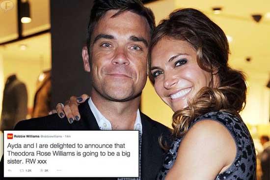 Robbie Williams será padre por segunda vez!