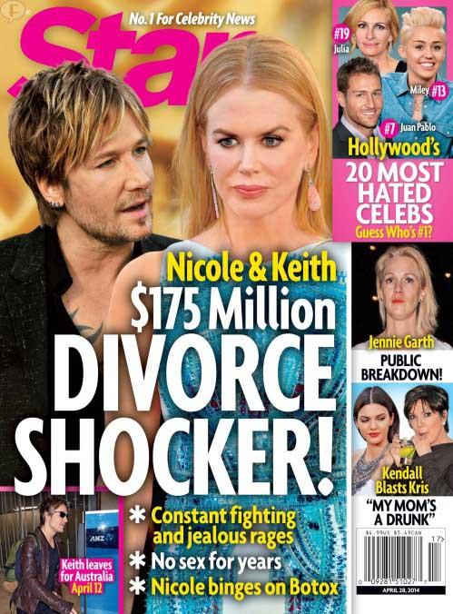 Divorcio Nicole Kidman y Keith Urban - SHOCK!