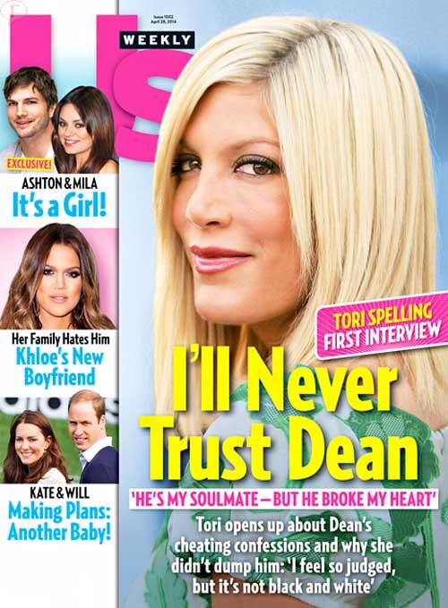 Tori Spelling habla sobre la infidelidad de Dean