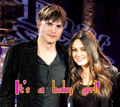 Ashton Kutcher y Mila Kunis tendrán una Baby Girl!