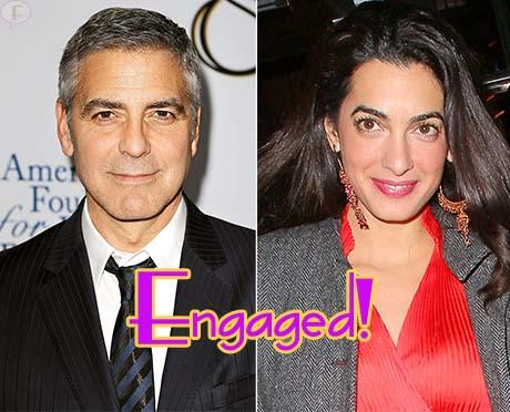 George Clooney comprometido con Amal Alamuddin