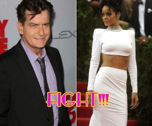 Charlie Sheen insulta a Rihanna por rechazar a su novia