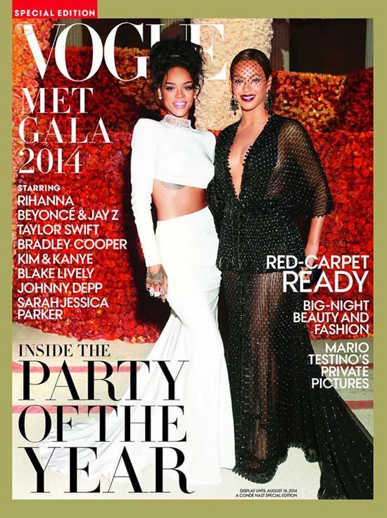 Rihanna y Beyonce en la portada de Vogue Met Gala