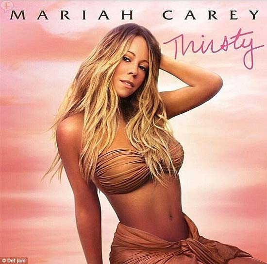 Mariah Carey en la portada de su single 'Thirsty'