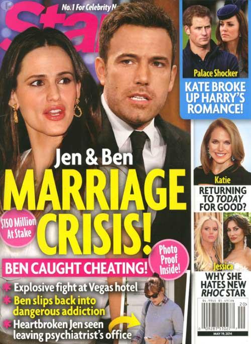 Jennifer Garner y Ben Affleck: matrimonio en crisis [Star]