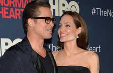 Angelina Jolie & Brad Pitt en la premier de The Normal Heart