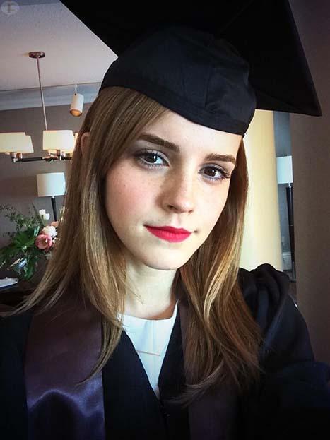 Emma Watson se graduó de la universidad!