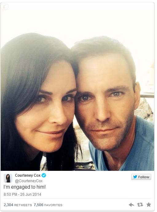 Courteney Cox COMPROMETIDA con Johnny McDay!