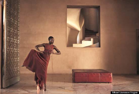 Lupita Nyong'o en Vogue magazine