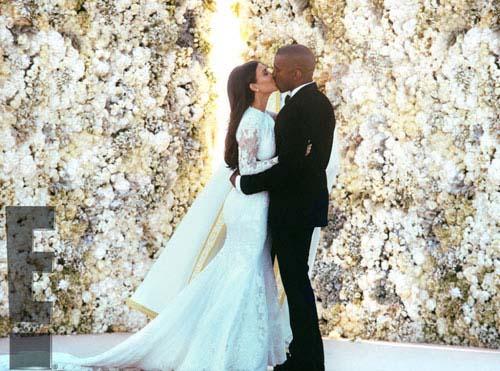 Kanye reveló que les llevó 4 dias photoshopear la foto de su boda