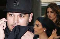 Rob Kardashian no habla con Kim y Khloe desde el drama de la boda