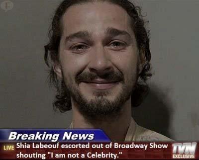 Shia LaBeouf arrestado en un show de Broadway