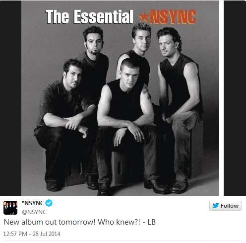 SURPRISE!!! Lanzan nuevo album de 'NSYNC