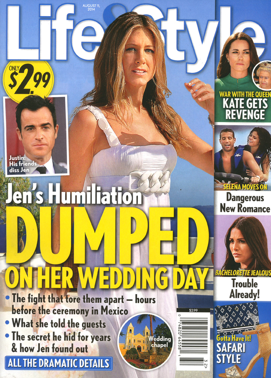 Jen Aniston abandonada en el altar!! - [Life&Style]