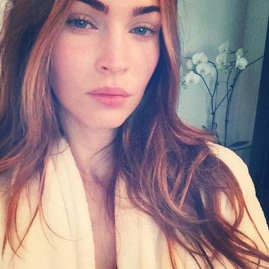 Megan Fox y su primera pic en Instagram sin maquillaje