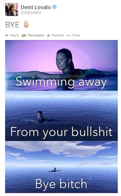 Demi Lovato le dice BYE a Selena Gomez en Twitter?