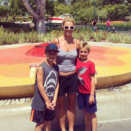 Britney Spears y sus hijos en Disneyland