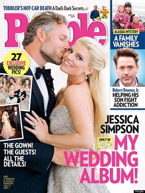 Fotos de la boda de Jessica Simpson y Eric Johnson [People]