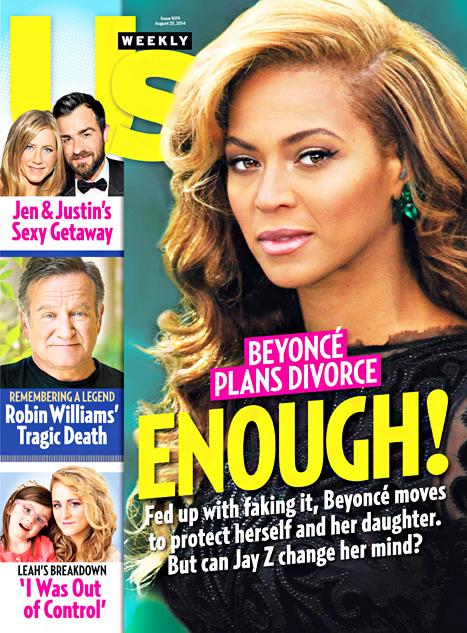 Beyonce preparando su divorcio: SHE IS DONE! [UsWeekly]