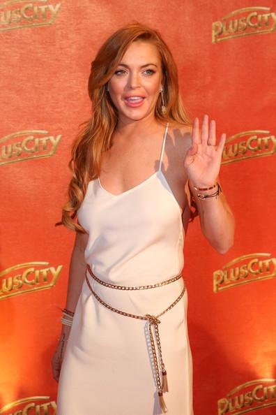 Lindsay Lohan ignorando a sus amigos sobrios