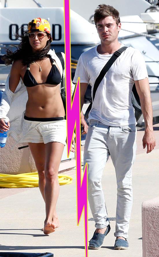 Michelle Rodriguez y Zac Efron terminaron! OF COURSE!