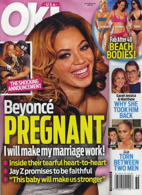 OK! Beyonce Embarazada para salvar su matrimonio!