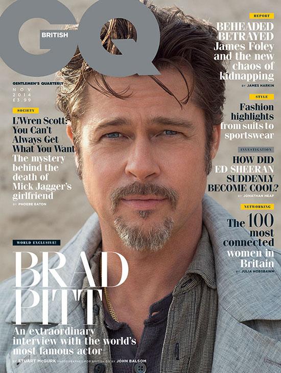 Brad Pitt en GQ - Matrimonio, Clooney, Shia, Twitter