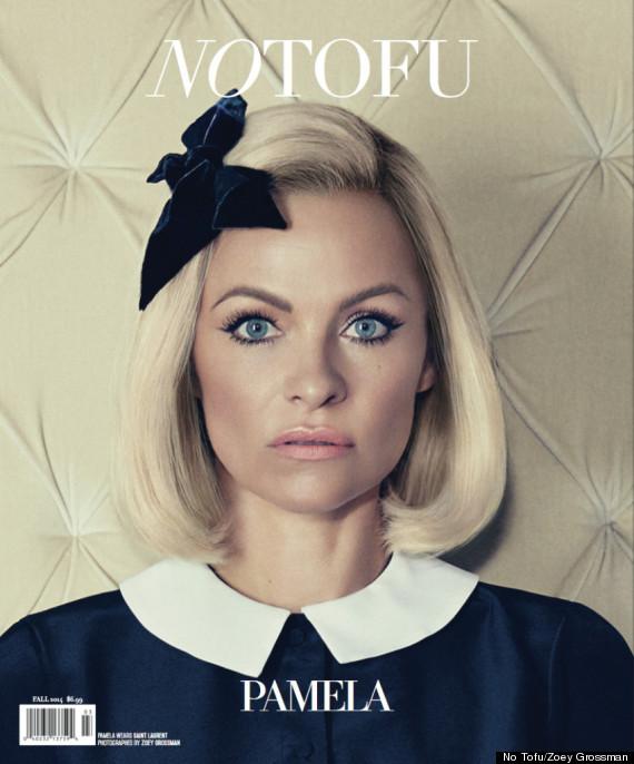Pamela Anderson High Fashion en No Tofu Magazine