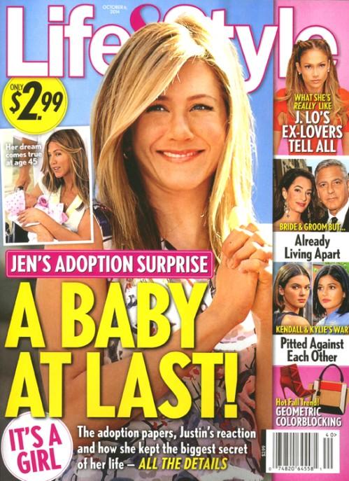 Finalmente un bebé para Jennifer Aniston - Adoptado!