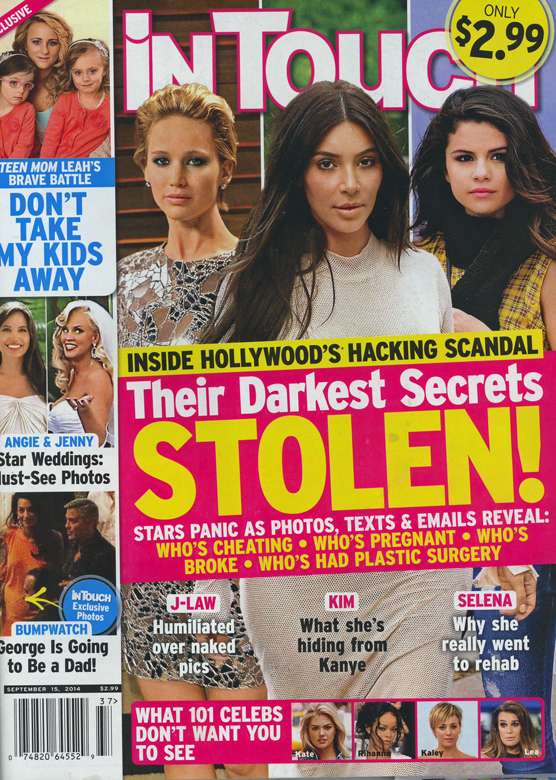 Dentro del escándalo de las fotos hackeadas en Hollywood! [InTouch]