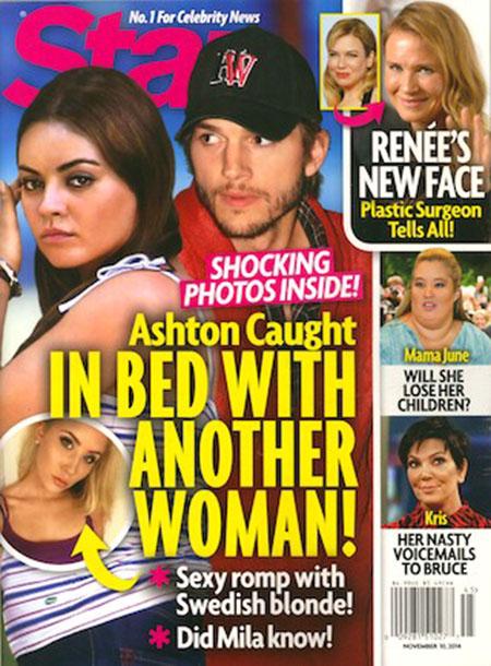 Ashton Kutcher pillado en la cama con otra mujer? - Chismes de Star