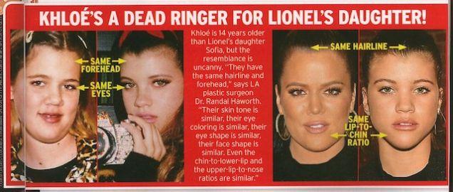 El verdadero padre de Khloe Kardashian es Lionel Richie!!