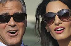 Los Newlyweds George y Amal se quedaron en casita
