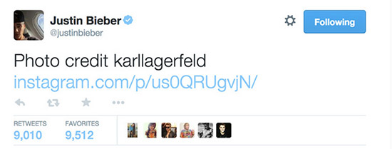 Justin Bieber muestra fotos de su sesión con Lagerfeld