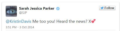 Sex and the City 3? Sarah Jessica Parker da una pista?