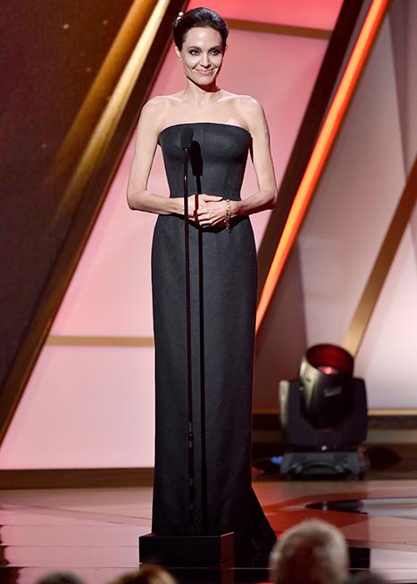 Angelina Jolie super flaca Hollywood Film Awards