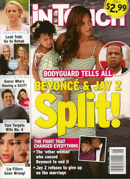 Beyonce y Jay Z separados! - Chismes de InTouch