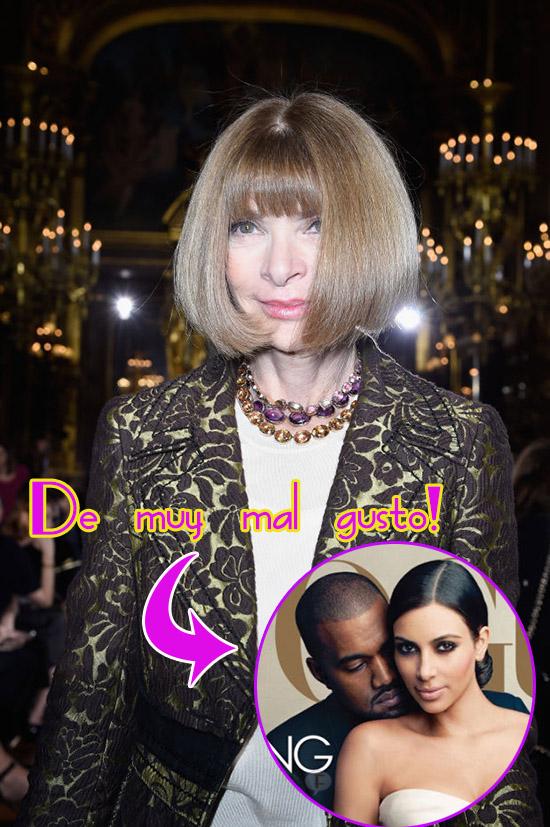 Anna Wintour insinúa Kim y Kanye no son de buen gusto