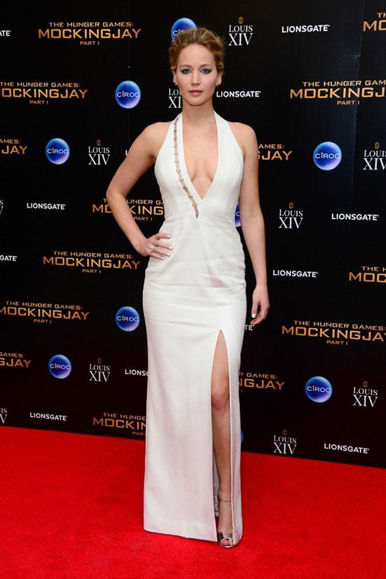 Jennifer Lawrence en la Premier Mundial de Mockingjay (Sinsajo)