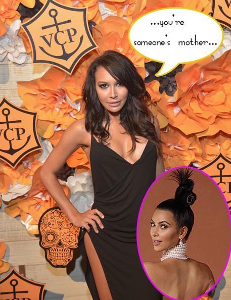 La clon de Kim, Naya Rivera le critica por su desnudo en Instagram