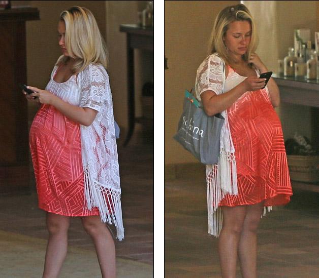 Hayden Panettiere embarazadota en bikini en Hawaii!!