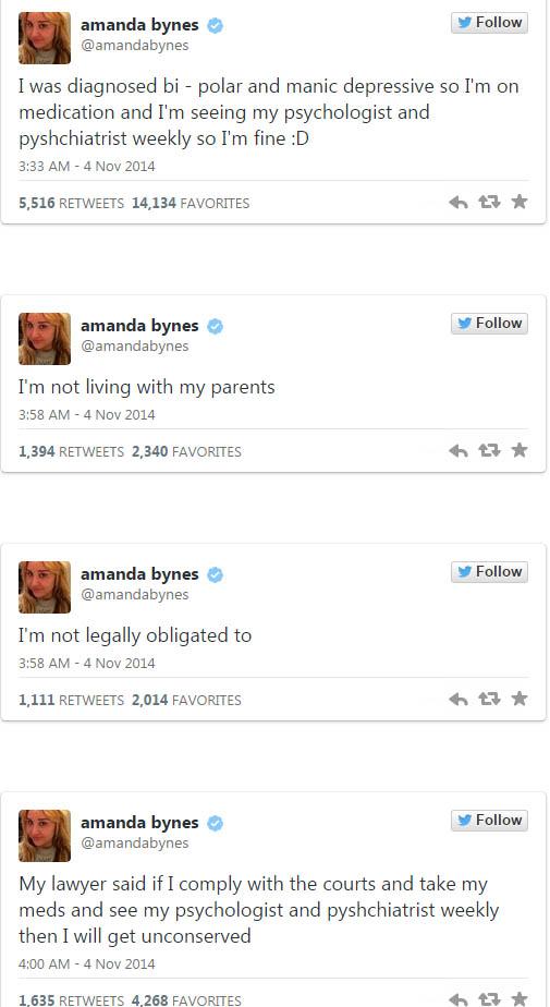 Amanda Bynes vive de gift cards - Bipolar Maníaco Depresiva?